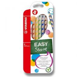 Farebné pastelky Stabilo Easy pre pravákov, 6 ks