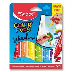 Maped Fixky na sklo 6 farieb + handrička
