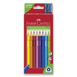 Farebné pastelky trojboké JUNIOR 10 farieb + strúhadlo