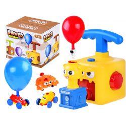 Balónová pumpa s vystreľovačom žltá