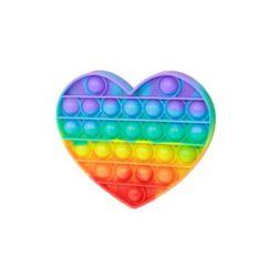 Bubble pops - Pop-it - srdce dúhove
