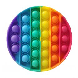 Bubble pops - Pop-it- kruh dúhovy
