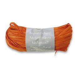 Prírodný darčekový povrázok, oranžový