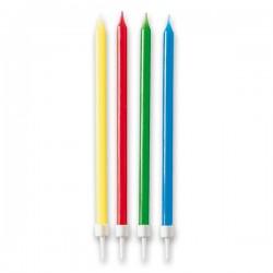Tortové sviečky dlhé, 12ks