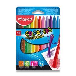 Plastové pastely Maped Color´Peps Plasticlean, 12 farieb