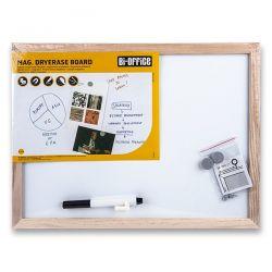 Magnetická tabuľa s dreveným rámom 40 x 30 cm
