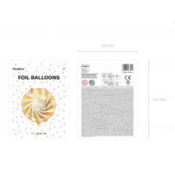 Fóliový balón - Candy zlatý 35 cm