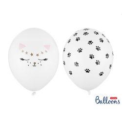 Balón 30cm, Cats biele, mix