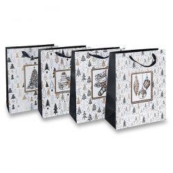 Papierová darčeková taška Stromčeky M