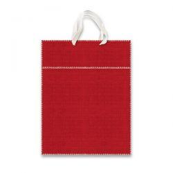 Papierová taška SADOCH Tinta Unita Tessuto M, červená