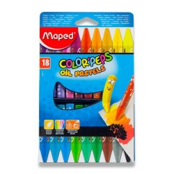 Olejové pastely Maped Color´Peps, 18 farieb
