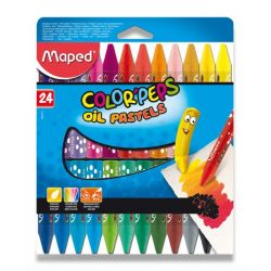 Olejové pastely Maped Color´Peps, 24 farieb