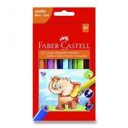 Farebné pastelky Faber-Castell Extra Jumbo, 12 farieb