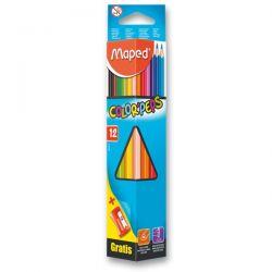 Farebné pastelky Maped Color´Peps, 12 farieb + strúhadlo
