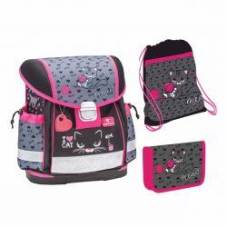 3dielny školský set BELMIL I LOVE CAT