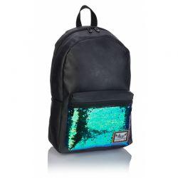 HASH Green Sequins- Štýlový koženkový batoh