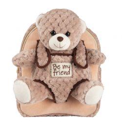 BE MY FRIEND Detský plyšový batoh- Macko