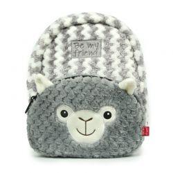 BE MY FRIEND Detský plyšový batoh- Lama