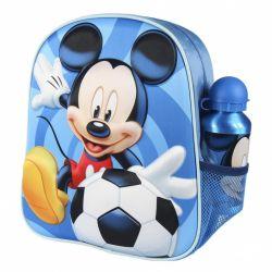 MICKEY MOUSE- Detský 3D batoh + športová hliníková fľaša