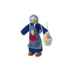 Bábika/figurka drevená - Babka