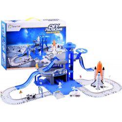 Vesmírna stanica s raketou