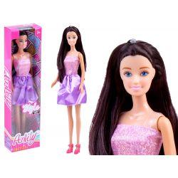 Bábika Anlily s dlhými vlasmi, fialová