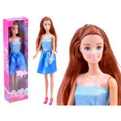 Bábika Anlily s dlhými vlasmi, modrá