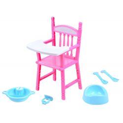Stolička pre bábiku + príslušenstvo
