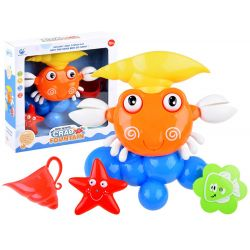 Farebný krab s fontánou – hračka do kúpeľa