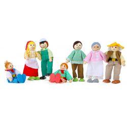 Bábiky do domčeka - Farmári rodinka