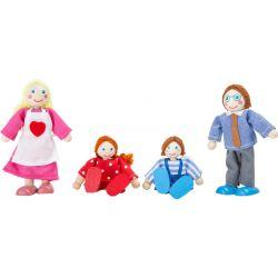 Drevené bábiky ohýbacie, rodina
