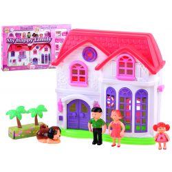 Skladací rodinný domček pre bábiky + nábytok