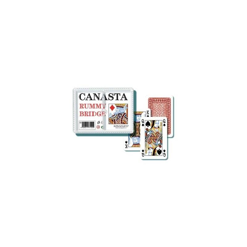 Hracie karty Canasta v plastovej krabičke