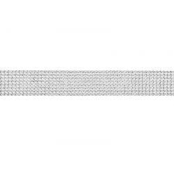 Štrasová stuha strieborná, 4x900cm