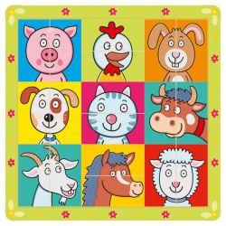 Drevené puzzle zvieracie hlavičky