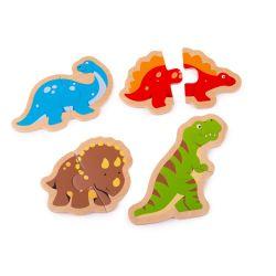 Puzzle Bigjigs dvojdielne - dinosaury