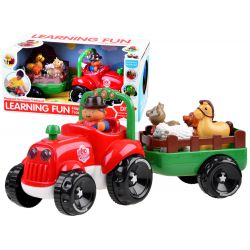 Traktor so zvieratami + zvuk a svetlo