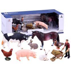 Farma - farmár so zvieratkami, maľované figúrky
