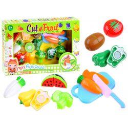 Ovocie, zelenina na krájanie s lopárom a nožíkom