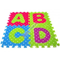 Veľké penové puzzle Abeceda, s izoláciou