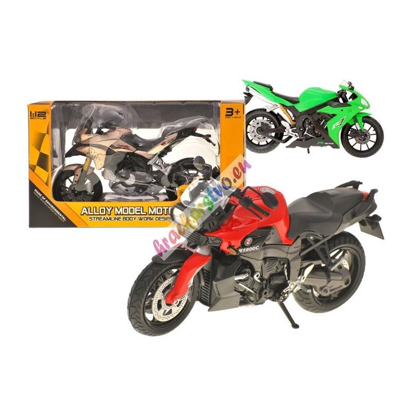 ALLOY kovová motorka 1:12, 9 modelov