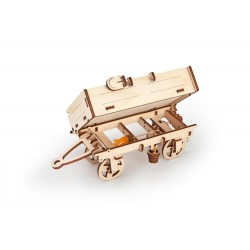 UGEARS – pohyblivé drevené 3D puzzle, Vyklápacia vlečka