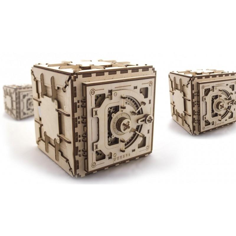 UGEARS – pohyblivé drevené 3D puzzle, Sejf