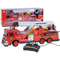 Veľké hasičské auto na diaľkové ovládanie s ovládaním rebríka