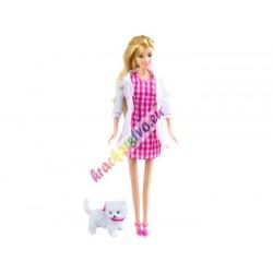 Anlily - Pracujúca bábika + 4 druhy oblečenia