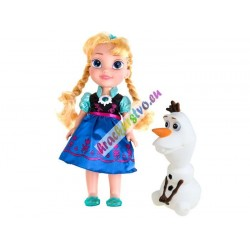 FROZEN – hovoriaca, spievajúca bábika Anna s Olafom, 36 cm