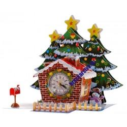 3D -  vianočné hodiny