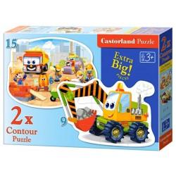 Castorland 2x Puzzle Stavebné práce