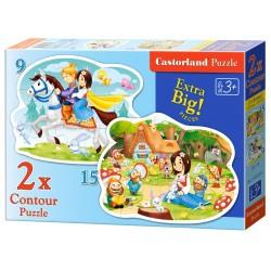 Castorland 2x Puzzle Snehulienka a sedem trpaslíkov