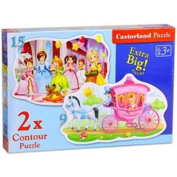 Castorland 2x Puzzle Princess ball